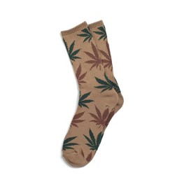 HUF - PLANTLIFE SOCKS (Tobacco/Green)