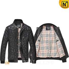 CWMALLS - CWMALLS® Dubai Men Quilted Leather Jacket CW806055[Patented Leather Jacket, Custom Made Service]