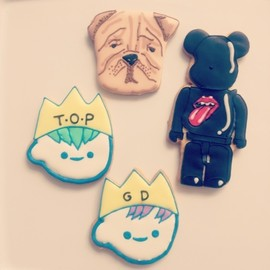 cafe luck sweets shop - BIGBANG Icing Cookies