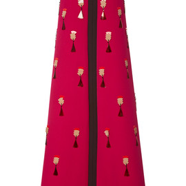 DELPOZO - FW2014 A-Line Bi-Color Dress With Embroidery
