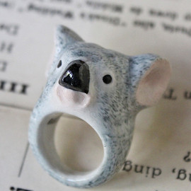 Grey Cat Ring