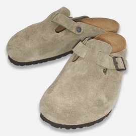BIRKENSTOCK - BOSTON SUEDE TAUPE