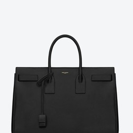 SAINT LAURENT PARIS - SAC DE JOUR SOFT LEATHER BAG (BLACK)