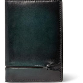 Berluti - Jagua Gaspard Polished-Leather Bifold Cardholder