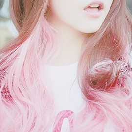 pink ombre hair!!!
