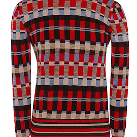 Jonathan Saunders - FW2015 Red And Bordeaux Rene Jumper