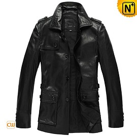 CWMALLS - CWMALLS® Miami Mens Leather Hunting Coat CW833903 [Valentine's Day 2018 Gift, 48-hour Delivery]