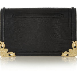 McQ, Alexander McQueen - Lizard-effect leather clutch