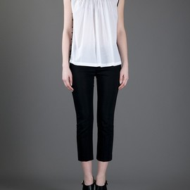DRIES VAN NOTEN - CARI EMBR. SLEEVELESS SHIRT