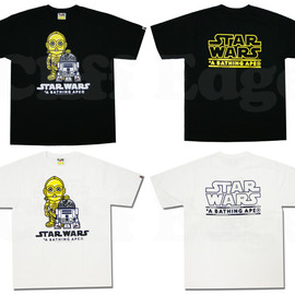 A BATHING APE x STAR WARS - R2D2 C-3PO Tシャツ
