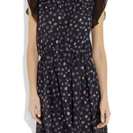 girl. by Band of Outsiders - Capucine chiffon-trimmed printed silk dress