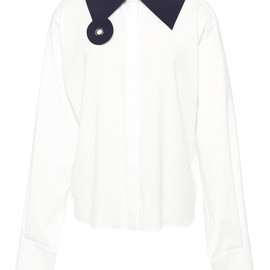 J.W. ANDERSON - SS2015 White With Navy New Age Shirt