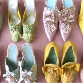 pastel color shoes