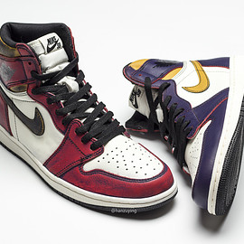 NIKE SB, Jordan Brand - Air Jordan 1 Retro Hi OG SB - Court Purple/Sail/University Gold/Black