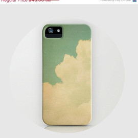 Etsy - iPhone 5 Case, iPhone 5 - dreamy, clouds, happy, simple - Vintage Sky, iphone 5 hard case