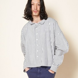ANREALAGE - WIDE &  SHORT STRIPE SHIRTS