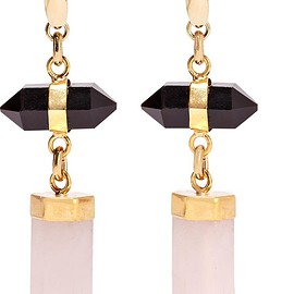 Isabel Marant - Santa gold-tone, agate and quartz earrings