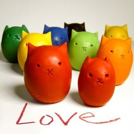 Kitty Baby Love - Kitty Egg Molded Crayons / クレヨンセット