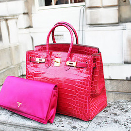 HERMES - birkin/bright bag.