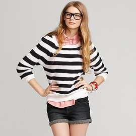 TOMMY HILFIGER - Back Bow Placket Waffle Sweater