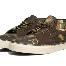 VANS - VANS Vault Sk8 Mid HW LX   Brushed Camo Horween Leather