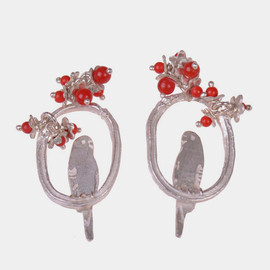 Amanda Coleman - Single Love Bird on a Branch Ear Studs
