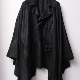 Number (N)ine  - dat leather riders cape