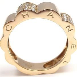 CHANEL - CHANEL | Diamond Yellow Gold Band Ring
