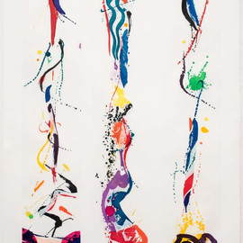 Sam Francis - Untitled, 1988, aguatint