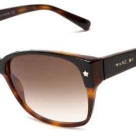 MARC BY MARC JACOBS -  MMJ 201/S 0JN1 Aviator Sunglasses (Black Tortoise Frame/Grey Gradient Lens)