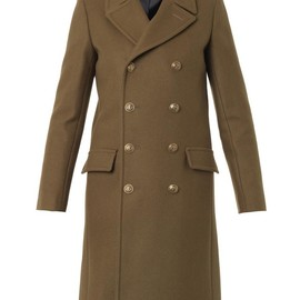 SAINT LAURENT - Military double-breasted wool coat