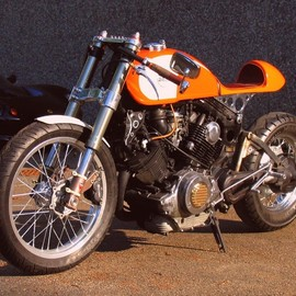 Plan B Motorcyles - promising Orange project    Yamaha XV750