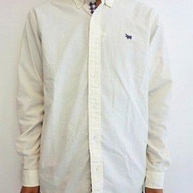 "S&nd - ダンガリー×CHECK SHIRTS ""WHITE×PURPLE"""