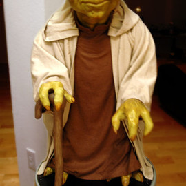 """released in 1999 by Pepsi as seen in the film """"The Phantom Menace"""". - Yoda life size statue"""