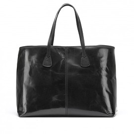 Tusting - Alice Leather Tote Bag - Large in Black