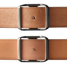 POSTALCO - REVERSIBLE POST BUCKLE BELT, OILED LEATHER