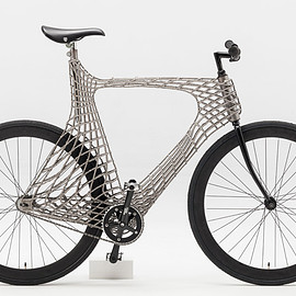 TU Delft students and MX3D Flip - Arc Bicycle 3D-printed steel frame