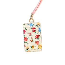 BAN.DO - Keep it Close Card Case With Lanyard - Coming up Roses