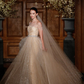 romona keveza collection bridal spring 2014 future wedding dress glittery ball gown