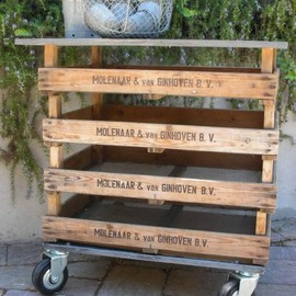 great rolling cart made with pallets