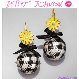 BETSEY JOHNSON - Ginger Flower Earrings
