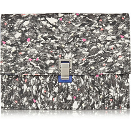 PROENZA SCHOULER - The Lunch Bag large jacquard and leather clutch