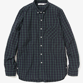 nonnative - DWELLER B.D. SHIRT COTTON TWILL TARTAN PLAID