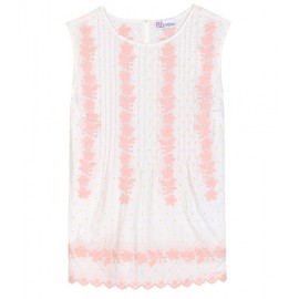 RED VALENTINO - EMBROIDERED COTTON TOP