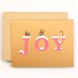 Clap Clap - NEW JOY Christmas Card for Holidays - Gold