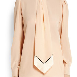 GIVENCHY - FW2014 Blouse in pastel-pink silk crepe de chine