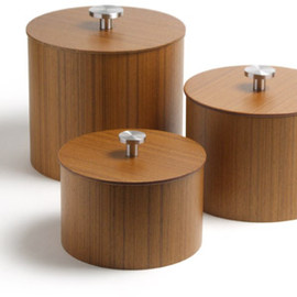 Mid Century Modern - Plywood Canister Set