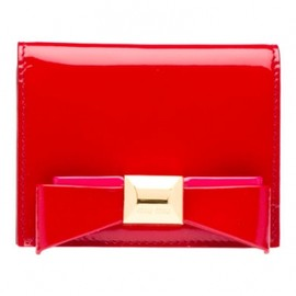 miu miu - 【'12Fall-Winter】Miu Miu VERNICE Patent nappa leather train-pass case in RED 1