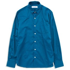 UNIVERSAL PRODUCTS - LAWN REGULAR COLLER SHIRTS[BLUE]