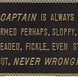 Plate: The captain is always right
